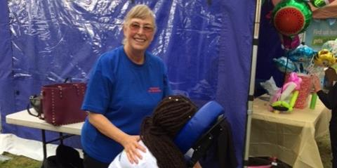 Pampering day at the Thamesmead Festival